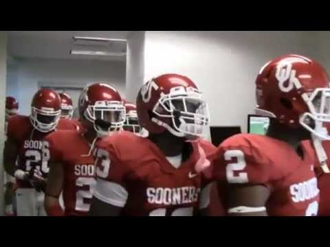 Sooners Exit Locker Room for 2012 Red River Rivalry