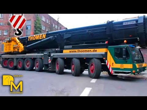 █▬█ █ ▀█▀ LIEBHERR CRANE LTM 1500-8.1 ARRIVING @ CONSTRUCTION SITE + ASSEMBLING THÖMEN HAMBURG