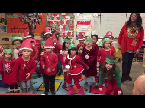 Mishas Preschool Christmas Program 2016  Kidz Bop Shuffle