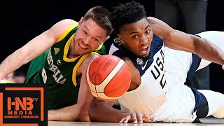 USA vs Australia - Full Game Highlights | August 22 | Exhibition Game | 2019 USA Basketball