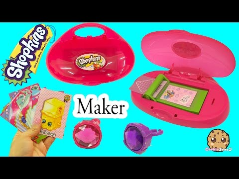 Shopkins Do It Yourself Cool Cardz Card Maker Machine with Stamp + Marker - Cookieswirlc