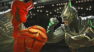 Injustice 2 - Hellboy vs Batman All Intros, Clash Quotes And Supermoves