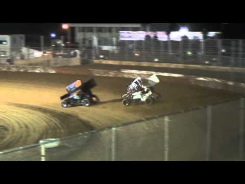 Trail-Way Speedway 358 Sprint Car Highlights 4-10-15