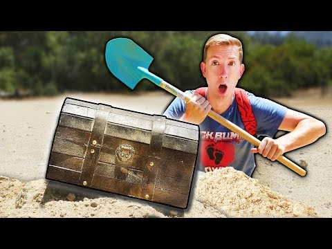 FOUND ABANDONED TREASURE CHEST HIDDEN UNDERGROUND w/ SECRET MAP (Treasure Hunt Adventure Challenge)
