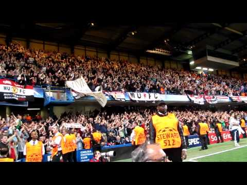 Man United fans v Chelsea 2011