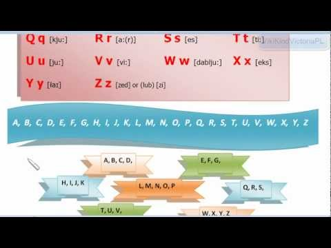 Learning English. Basics.Nauka Języka Angielskiego.Podstawy-Lesson 1: The English Alphabet