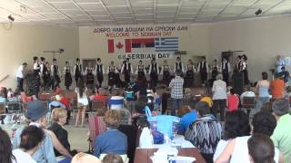 Dancing traditional kolo at Serb fest Niagara Falls ON.