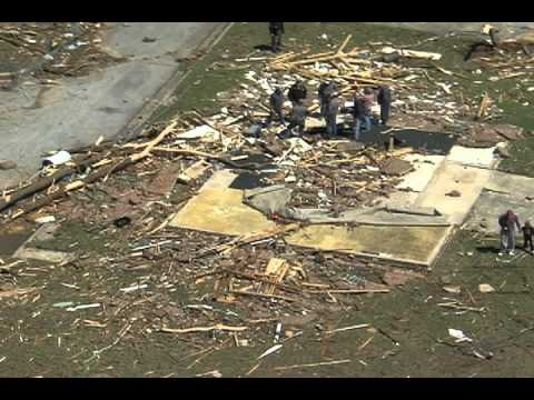 Hackleburg Tornado Damage Aerials Part 1