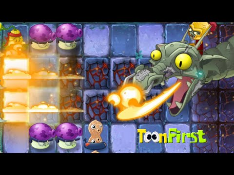 Plants Vs Zombies 2 Dark Ages: Part 2 FINAL BOSS. DR ZOMBOSS. Zombot Dark Dragon.  Night 20