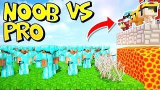 RETO DE LA BASE DE YOUTUBERS NOOB VS 100 PRO'S EN MINECRAFT