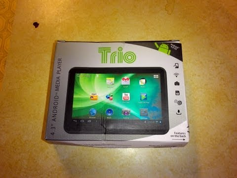 Mini Anroid Tablet 4. 3 inches Trio Review Unboxing