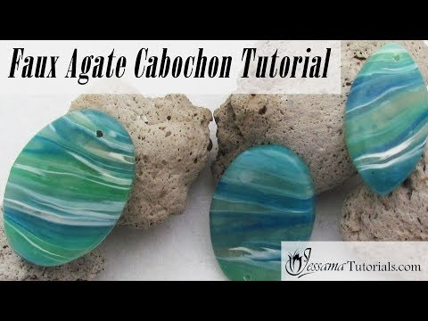 Faux Agate Polymer Clay Pendant Tutorial