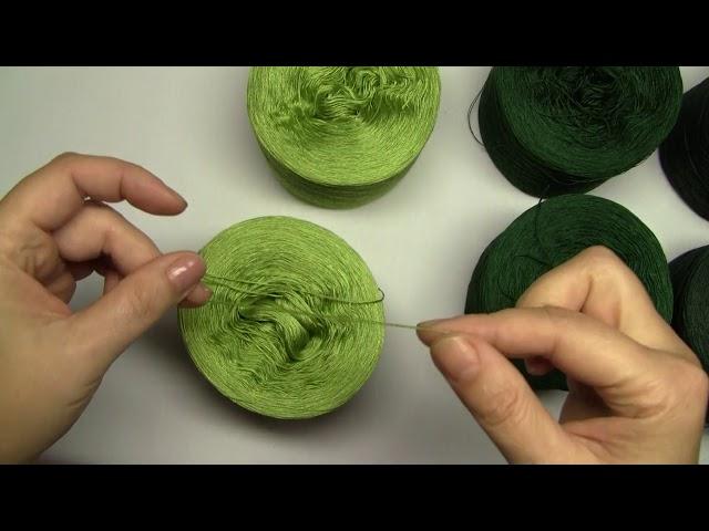 Jak tonovat barvy při pletení a háčkování - Как тонировать полотно при вязании.