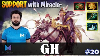 GH - Keeper of the Light Safelane | SUPPORT with Miracle (Ember) | Dota 2 Pro MMR Gameplay #20