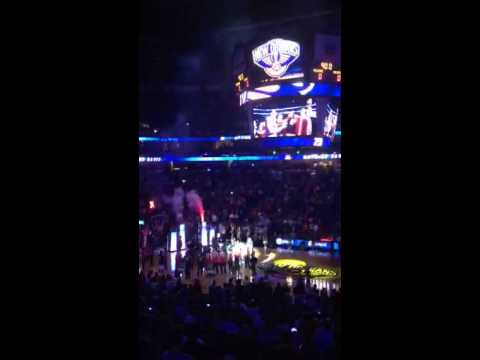 New Orleans Pelicans 1st ever game Anthony Davis