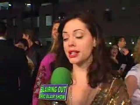ROSE McGOWAN talks make up with ERIC BLAIR 05