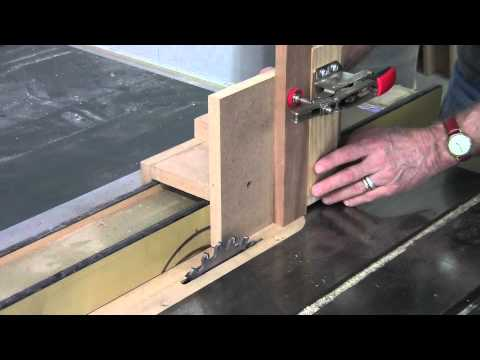 Mortise and Tenon Furniture: Tenons on Table Saw