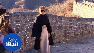 Melania Trump visits the Great Wall of China during Asia tour - Daily Mail