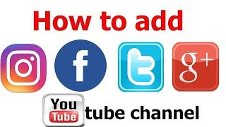 |How To Add Links Instagram,Facebook,Twitter,Google+ On Youtube Channel 100% Working | Wasil Ahmed |