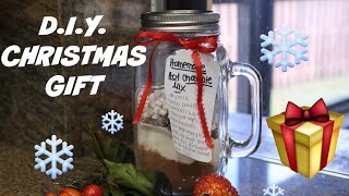 DIY Hot Chocolate In A Jar Christmas Gift