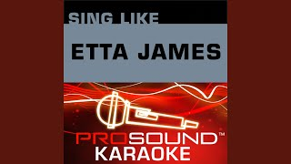 At Last Karaoke Instrumental Track In The Style Of Etta James