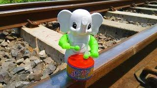 Train vs Drum Baja Elephant Toys🐘🐘🐘