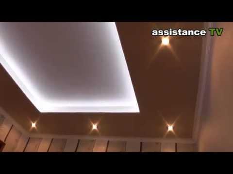 Подвесной потолок с подсветкой своими руками видео