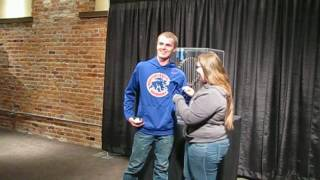 Marriage proposal with Cubs World Series Trophy in Kalamazoo