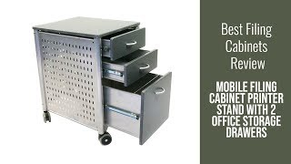 Filing Cabinet Review - Mobile Filing Cabinet Printer Stand with 2 Office Storage Drawers