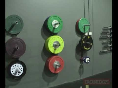 Wall-Mounted Bumper Plate Storage - YouTube