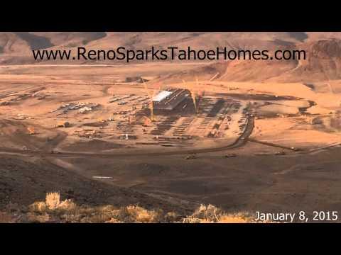 Tesla Gigafactory Progress at the Tahoe Reno Industrial Park - January 2015