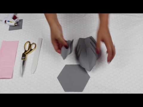 Paper Flower Tutorial using Template #20