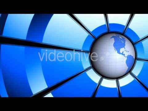 Motion Graphics - Blue Globe Animation | VideoHive