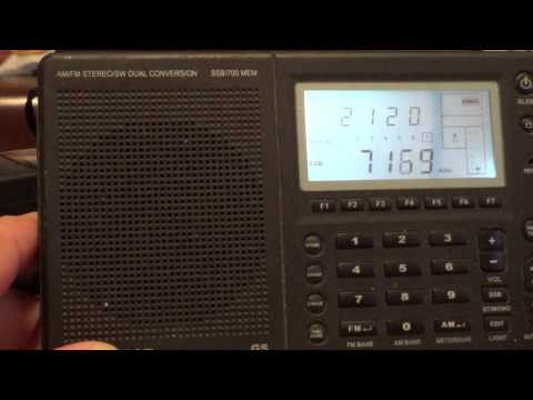 CQ WW DX contest 40 meters scan on Grundig G5