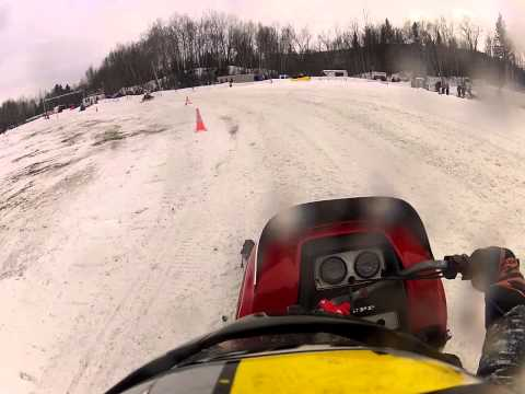 Great North Woods Vintage Snowmobile Race Errol, New Hampshire Youth 10-13 Final 2013