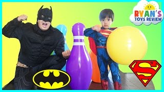 Batman vs Superman Giant Bowling Challenge Inflatable toys for kids
