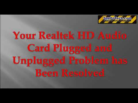 a Quick Way to Solve Realtek HD Audio Plugged and Unplugged Problem