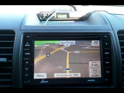 Lanzar SNV695B 7-Inch Video Headunit Receiver GPS Navigation