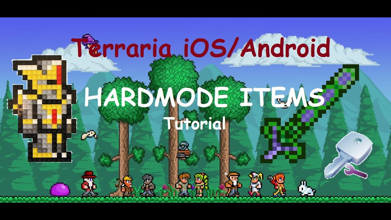 Terraria ios android let s cheat add new items youtube