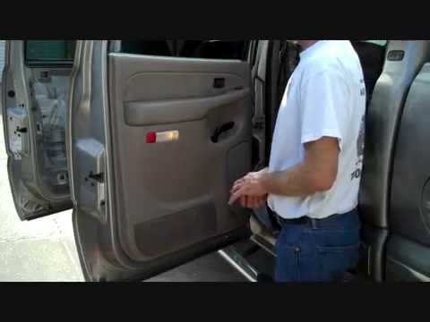 Chevrolet Silverado / GMC Sierra Rear Door Speaker Removal 1999-2006