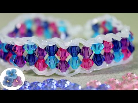 How to make bracelets EASY with beads Rainbow Loom DIY Kawaii Rubber Band Bracelet Mathie