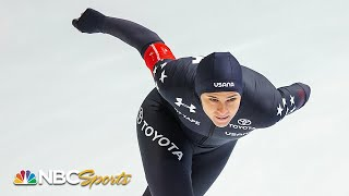 Brittany Bowe stays unbeaten with 1000m long track title | NBC Sports