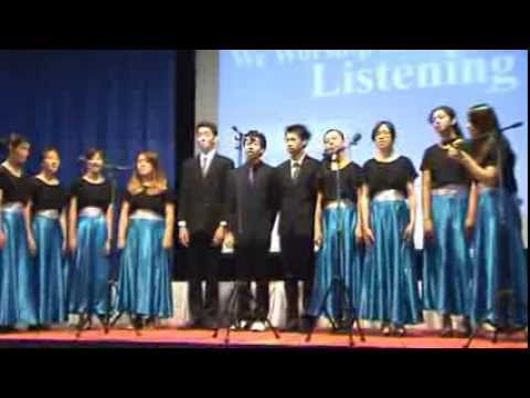 "High School Choir of Ekamai International School singing ""Jesus is Coming"""