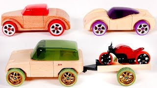 Learn Colors with Toy Car Vehicles Automoblox Playset for Kids