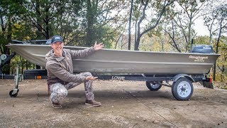 My NEW Backwater Fish & Hunt Jon Boat! (Purchasing & Tour)