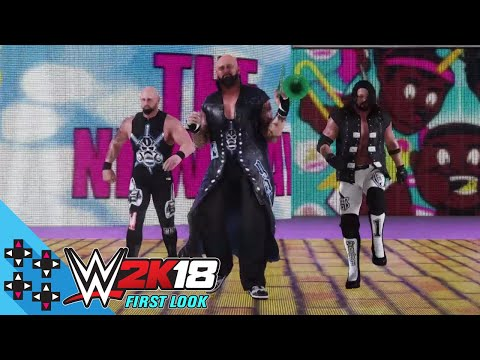 WWE 2K18 First Look - The Club enter the arena as The New Day