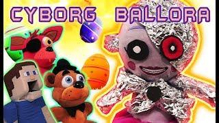 Five Nights at Freddy's CYBORG BALLORA Attacks EASTER! FNAF Plush Funko Egg Basket Fur Babies