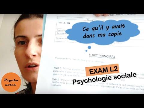 Ce que j'ai fait à l'EXAMEN de PSYCHOLOGIE sociale - Licence 2 psychologie