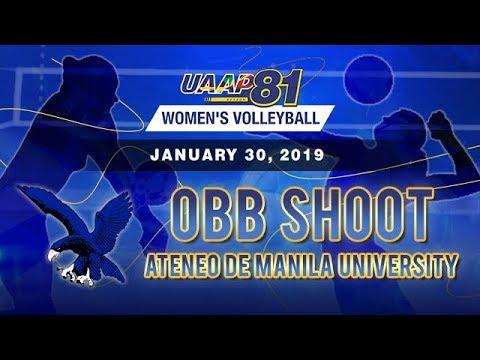 UAAP 81 Womens Volleyball: Ateneo de Manila University  OBB Shoot - January 30 2019