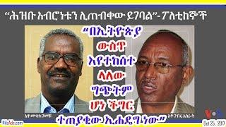 በኢትዮጵያ ውስጥ እየተከሰተ ላለው ግጭትም ሆነ ችግር ተጠያቂው ኢሐዴግ ነው - Ethiopia